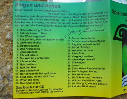 Die Rückseite der CD mit dem Inhalt ist zu sehen.