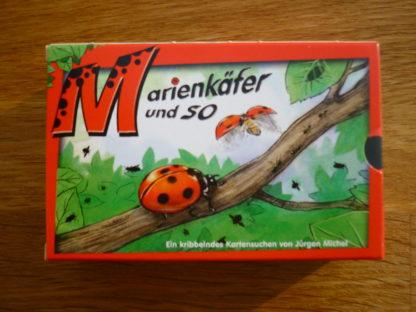"""Kartenspiel """"Marienkäfer und so"""" Karton von vorne."""
